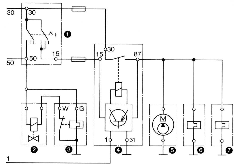 K-Jetronic / Elektrische Schaltung